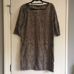 Zara woman medium cobra print dress